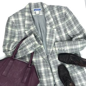 Pendleton 100% Wool Metallic Silver/Grey Plaid